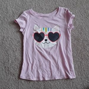 Cat and Jack size 4T girls cat tshirt